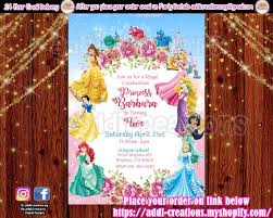 Disney Princess Invitations Customized Item Disney Princess