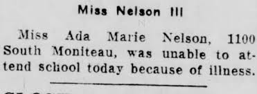 Ada Nelson unable to attend school. Was this really an injury ...