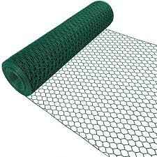 Amagabeli 1m X 25m Green Hexagonal Wire Mesh Fencing Ral6005 Pvc Coated 13mm Mesh Size 1mm Wire Diameter Galvanized Wire Fence Roll For Garden Poultry Netting Chicken Wire Hardware Cloth Hc05 Amazon Co Uk