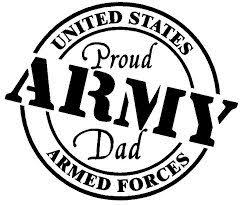 Proud Army Dad Decal For Windows Tumblers Coolers And More Etsy Army Dads Army Mom Vinyl Decals