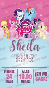 Tarjeta Invitacion My Little Pony Digital Whatsapp 160 00 En