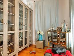 jewelry armoire in closet traditional