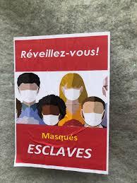 Affiche anti-masque que j'ai trouvé à Paris aujourd'hui : france