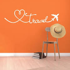 Shop Wall Stickers Travel Themed Quote Words Wall Decal Diy Self Adhesive Removable Pvc Home Decor Stickers Online From Best Furniture And Decor On Jd Com Global Site Joybuy Com