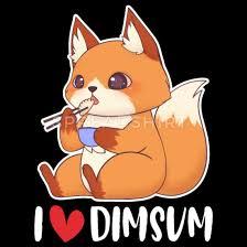 cute fox i love dim sum baby fox gift