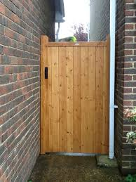 Garden Gates And Side Gates Handcrafted In The Uk To Any Width Or Height Using Time Served Construction Te Garden Gates Wooden Garden Gate Wooden Side Gates
