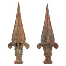 Sold Iron Fence Finials Old As Adam
