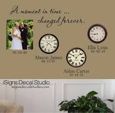 A Moment In Time Wall Decal Moments In Time Changed Forever Etsy
