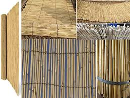 Bargains Hut Aqs Natural Bamboo Peeled Reed Fence Thick Handmade Garden Screen Privacy Fence Panel 4m Length 1m 100cm High Amazon Co Uk Garden Outdoors