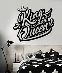 Vinyl Wall Decal Logo King And Queen Crown Words Graffiti Stickers 2140ig Ebay
