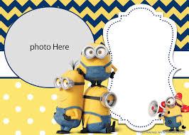 Free Printable Yellow Minions Birthday Invitation Templates Di 2020