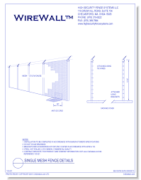 Styles Of Fencing Single Mesh Fence Details Caddetails
