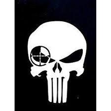 Punisher Skull Sniper Premium Decal 5in White Walmart Com Walmart Com
