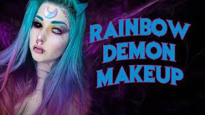 rainbow demon makeup