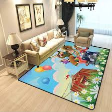 Amazon Com Circus Gym Decorative Carpet Clowns Vintage Car Circus Big Top Daisies Flowers Heart In Meadow Fun Design Art Rugs For Bedroom Living Room Girls Kids Multicolor W6 5xl8 Feet Kitchen Dining