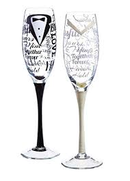 hand painted bride and groom champagne