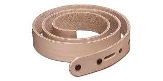 natural cowhide leather belt blanks