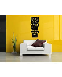 Amazing Deal On Vinyl Sticker Totem Pole Tiki Torch Native American Tropical Emblem Family Clan Mural Decal Wall Art Decor Sa1904