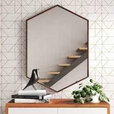 modern contemporary hexagon mirror