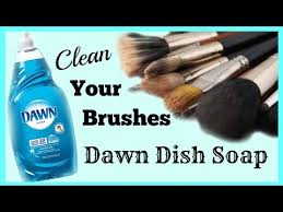 dawn diy makeup brush cleaner