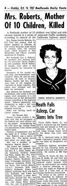 Noveta Edens Roberts Oct 1957 Death - Newspapers.com