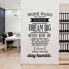 Office Motivational Quotes Wall Sticker Never Give Up Work Hard Vinyl Wall Decal For Sale Online