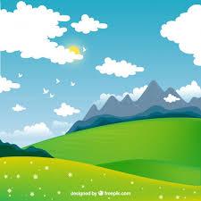 beautiful landscape free vector