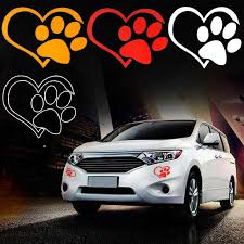 3pcs Car Stickers Cute Cat Dog Paw Print Reflective Car Decal Sticker Window Footprint Decals Free Shipping Wall Stickers Aliexpress