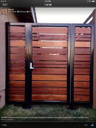 metal frame wooden slats wood fence