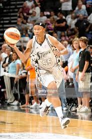 Vickie Johnson of the San Antonio Silver Stars drives the ball up ...