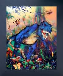 T Rex Dinosaur Triceratops Kids Room Animal Wall Decor Espresso Framed Picture Art Print 20x24 Impact Posters Gallery