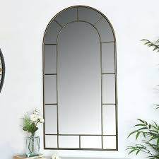 image 0 large rustic wall mirror with