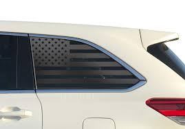 Amazon Com Usa American Flag Decals Fits Toyota Highlander In Matte Black For Crew Cab Windows Fits 3rd Generation 2014 2019 Qs6 A Handmade