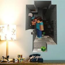 3d Minecraft Wall Decor Sticker Home Kids Game Vinyl Decoration Hot For Sale Online Ebay