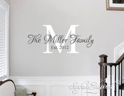Personalized Family Name Monogram Wall Decal Vinyl Wall Art Miller Fam Surface Inspired Home Decor Wall Decals Wall Art Wooden Letters