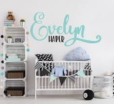 Custom Baby Name Wall Sticker Nursery Wall Art Name Kids Etsy Nursery Wall Stickers Vinyl Wall Decals Wall Decal Sticker