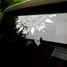 Mandala Car Decal Vinyl Window Decals Lotus Flower Decorative Ornament Removable Waterproof Home Decor Wall Sticker Murals A458 Wall Stickers Aliexpress