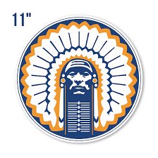 9 X 9 In Illinois Fighting Illini Ncaa Vinyl Sticker Decal 5 Sizes Wall Cornholetruck Car 2 Wall Decals Sports Outdoors