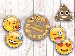 Kit Cumpleanos Emoji Emoticon Rustico Imprimibles Personalizables