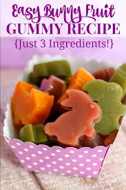 homemade bunny fruit juice gummy recipe