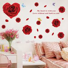 Warm And Romantic Bedroom Bedside Wall Stickers Living Room Decoration Self Adhesive Painting Creative Love Rose Wall Decal Buyinchinese Com Buy China Shop At Wholesale Price By Online English Taobao Agent