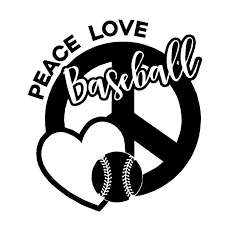 2020 15 13 6cm Peace Love Baseball Vinyl Decal Sticker Peace Sign Heart Car Accessories Motorcycle Helmet Car Styling From Xymy777 1 69 Dhgate Com