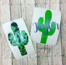 Cactus Monogram Cactus Decal Aztec Cactus Yeti By Vinylosityco Yeti Decals Monogram Vinyl Decal Vinyl Crafts