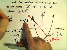 secant line finding an equation for a