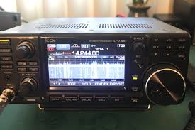 photo icom ic 7300 front panel in the
