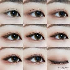 korean eye makeup step by step