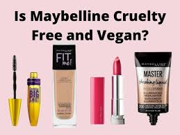 is maybelline free and vegan