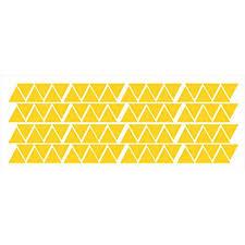 Wall Decal Tiny Triangles Wall Vinyl Sticker Shapes Peel N Stick Fun Easy Wall Decor 1 5x1 75 Each Yellow Walmart Com Walmart Com