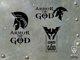 Armor Of God Holy Armour Jesus Christ Vinyl Sticker Decal 3 Style Patriots Ebay