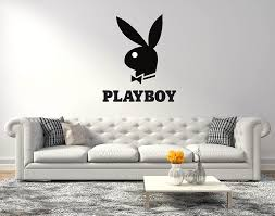 Amazon Com Playboy Bunny Logo Wall Decal For Home Living Room Or Bedroom Decoration Active Wide 20 X24 Height Inches Home Kitchen